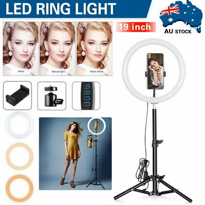 AU20.09 • Buy 19 /10  Dimmable LED Ring Light Tripod Stand Selfie Live Lamp Makeup Fill Light