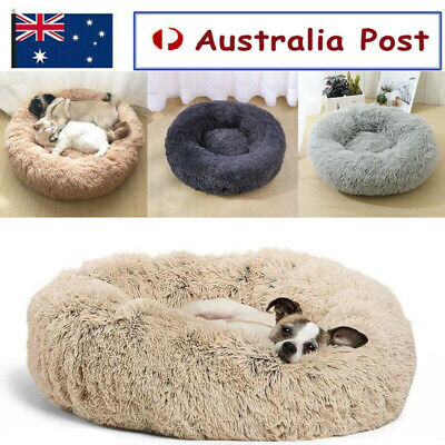 AU19.99 • Buy Pet Cat Dog Calming Bed Warm Soft Plush Round Nest Comfy Sleeping Kennel Cave