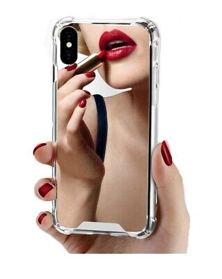 AU9.99 • Buy Mobile Case Cover For IPhone 7/8/X With Rear Mirror Finish, Shockproof PC/TPU