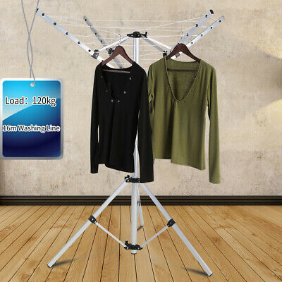 4 Arms Rotary Clothes Dryer Airer Washing Line Clothes Laundry Camping Outdoor • 29.53£