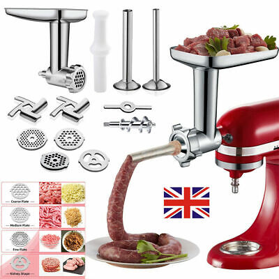 £21.79 • Buy Meat Food Grinder Attachment For Kitchen Aid Stand Mixer Electric Sausage Filler