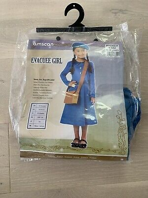 Girls Fancy Dress Evacuee Outfit Costume By Amscan Age 9-10 Years • 4.99£