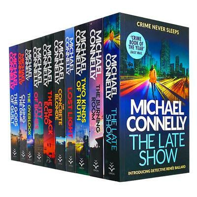 Michael Connelly 10 Books Collection Set The Late Show, The Concrete Blond.. • 25.99£