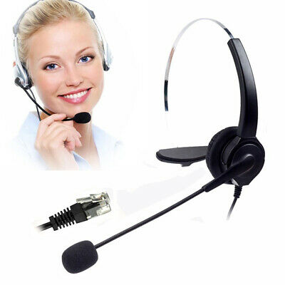 £10.51 • Buy Telephone Headset Noise Cancelling With Mic For Call Center Desk Telephones