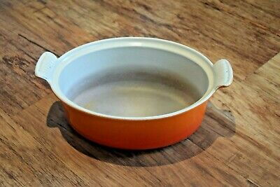 Cousances / Le Creuset 26 Orange Cast Iron Oval Casserole No Lid 26 Cm  • 39.95£