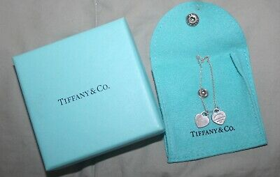 $110 • Buy Return To Tiffany & Co. Mini Double Heart Tag Pendant Necklace 925 Silver 16