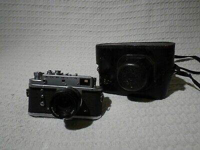 Vintage Russian Zorki 4 35mm Film Rangefinder Camera & Jupiter-8 50mm Lens • 29.99£