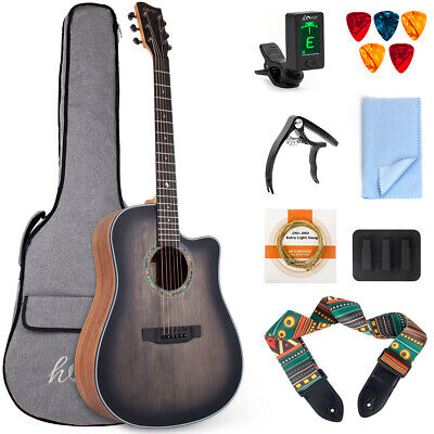 AU140.99 • Buy Acoustic Guitar 41 Inch Top Spruce With Bag Tuner Strap Picks String Capo Mute