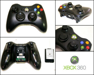 AU50 • Buy Microsoft XBOX 360 Genuine Black Wireless Controller (Model 1403)