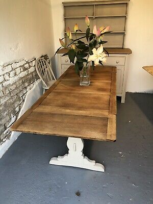 Ercol Extending 5.6 Foot ElmDraw Leaf Refectory Kitchen Dining Table Refurbished • 345£
