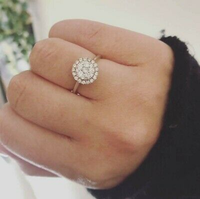 AU1200 • Buy Diamond Engagement Ring Set In White And Rose Gold Crafted By Michael Hill