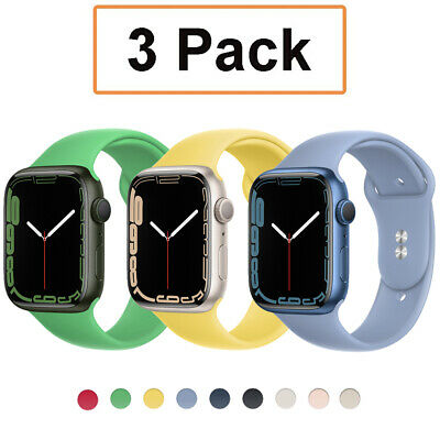 $ CDN12.07 • Buy 3 Pack Silicone Sport Band Strap For Apple Watch 6 5 4-1 IWatch SE 38/40/42/44mm