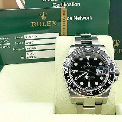 $ CDN16643.67 • Buy Rolex GMT Master II 116710 Black Ceramic Stainless Steel Box Papers 2012
