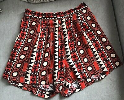 £4.99 • Buy H&m Womens Shorts With Pockets Aztec Print Size 8 (eur 34)