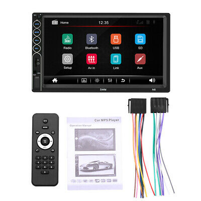 $ CDN55.22 • Buy Double 2DIN Car Stereo MP5 Player 7in USB FM Radio Android IPhone Mirror Link Af