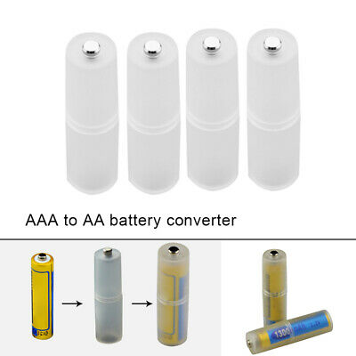 AU9.92 • Buy 4x AAA To AA Size Battery Converter Adapter Battery Holder Case Switcher Plastic