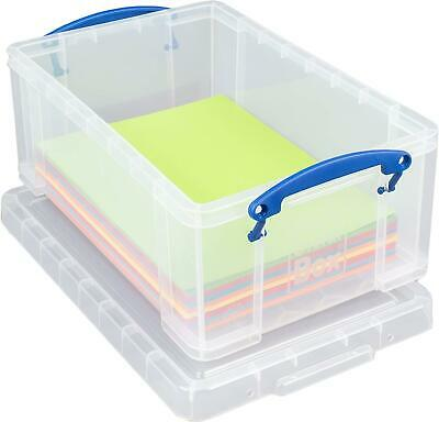 £9.67 • Buy Really Useful Box 9 Litre Plastic Storage Box - Perfect For A4 Paper, Magazin