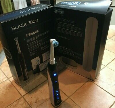 AU113.17 • Buy Electric Toothbrush, Oral-B Pro 7000 SmartSeries Black Electronic Power Recharge