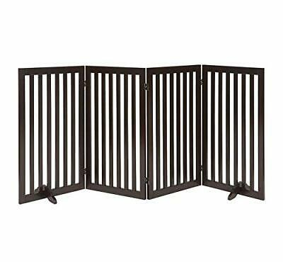 Unipaws Freestanding Dog Gate, Foldable Pet Fence, Indoor Wood Barrier, Assembly • 162.08£