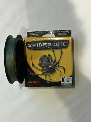 SPIDERLINE FUSION LINE GHOST GREEN 150 Yd SPOOL 10 Lb 12 Lb 24 Lb Catfish Carp  • 12.99£