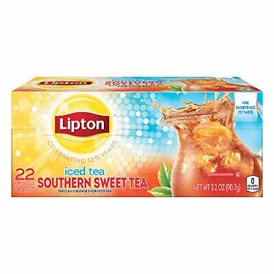 £8.39 • Buy Lipton Southern Sweet Tea Iced Drink Mix 22 Family Size Bags 90.7g...