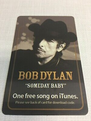 AU12.54 • Buy Bob Dylan 2006 Concert Souvenir Free ITunes Download Card Now Expired