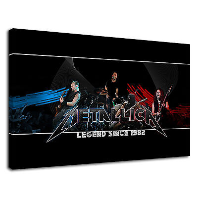 Metallica Heavy Metal Band Logo Lars Ulrich Canvas Wall Art Picture Print • 36.99£