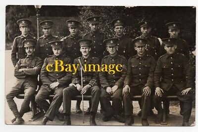 Old Photo Postcard GROUP OF SOLDIERS - LOYAL NORTH LANCASHIRE REGIMENT • 3.99£