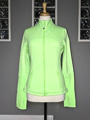 $ CDN58 • Buy Lululemon Forme Jacket 8 Zippy Green Shape Vguc
