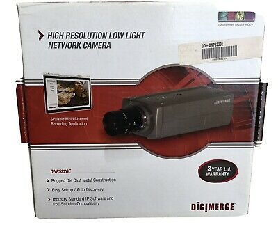 $300 • Buy Digimerge - DNP5220E - High-Resolution Low Light IP Box Network Camera With PoE