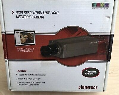 $250 • Buy Digimerge - DNP5220E High-Resolution Low Light IP Box Network Camera With PoE