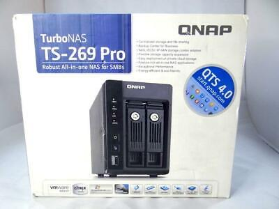 $ CDN493.73 • Buy New Qnap Ts-269-Pro 2-Bay Nas, Sata 6Gbps, Usb 3.0 Network Storage Open Box