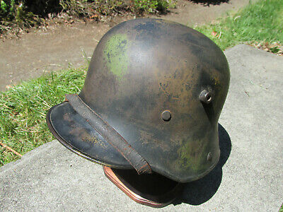 $900 • Buy Stamped M16 German Camo Helmet With Liner Chinstrap WW1 WW2 Badge Medal Pin Hat
