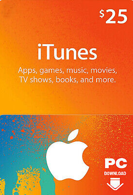 AU41.54 • Buy ITunes Gift Card $25 USD Key - $25 US Dollar Apple Store Code Gift Card [USA]