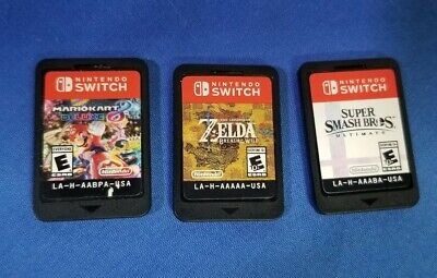 $145.67 • Buy Nintendo Switch Game Lot Of 3 Games Zelda  Smash Bros Mario Kart 8 Free Shipping