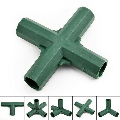 Greenhouse Awning Structure Joints Connector Plastic Pipe Frame DIY Accessories • 5.48£