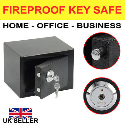 £17.89 • Buy 4.6l Solid Steel Safe Heavy Duty Fireproof Home Office Money Cash Valuables Box