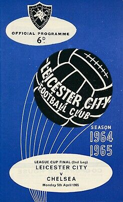 LEAGUE CUP FINAL PROGRAMME 1965 Leicester City V Chelsea • 249.99£