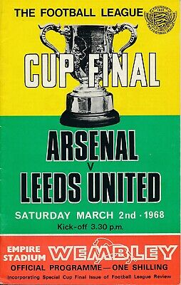 LEAGUE CUP FINAL PROGRAMME 1968 Arsenal V Leeds United • 7.99£