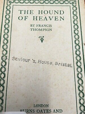 Catholic Booklet The Hound Of Heaven Vintage Burnes Oates 1920's 30's • 2.99£