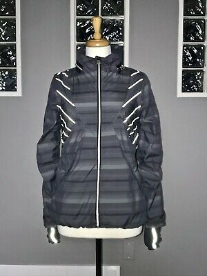 $ CDN102.40 • Buy Lululemon Run Hustle Jacket 6 Gray Poncho Stripe Reflective Rare