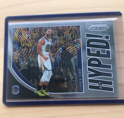 AU10 • Buy Stephen Curry Get Hyped Insert 2019/20 Panini Prizm NBA Golden State Warriors #4