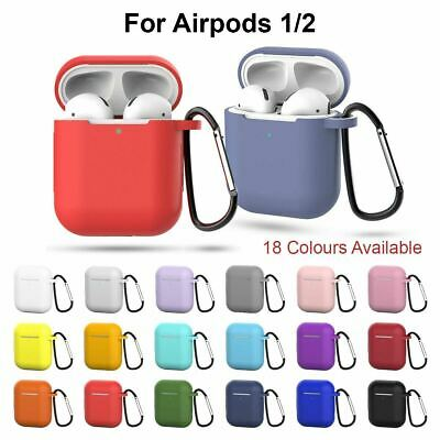 AU4.90 • Buy Apple Airpods 1 2 Shockproof Silicon Gel Case Cover Wireless Charging Airpod SKi