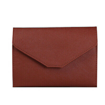 AU7.64 • Buy Men And Women Travel Accessories Ultra-Thin New Trend Id Bag Brown Leather JA