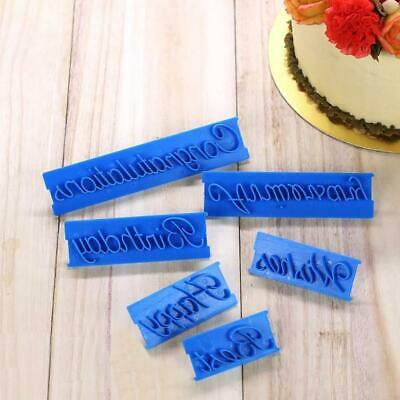 6pcs/set Cutter Decor Icing Happy Birthday Letter Sugarcraft Mould Cake Mold New • 3.99£