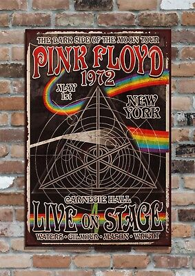 PINK FLOYD Iconic Tour Poster, 10x8  Retro Vintage Metal Advertising Sign Plaque • 6.95£