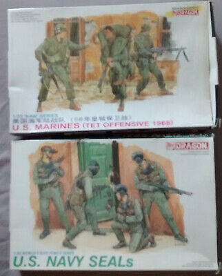 DRAGON  US NAVY SEALS           3017  4  Figures         1:35 • 17.50£