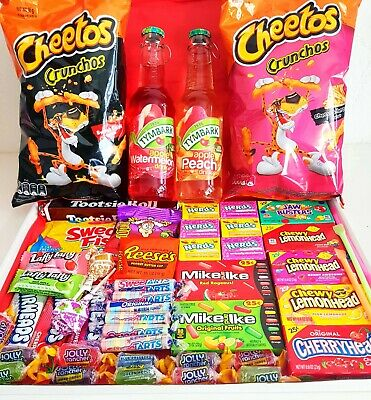 £18.99 • Buy American Sweets Box Candy Box - 64 ITEMS - Gift Box - US Candy Hamper - Present