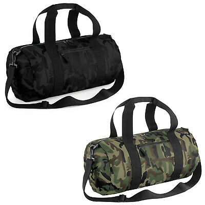 £19.60 • Buy BagBase Plain Camo Camouflage Festival Camping Sports Luggage Holdall Barrel Bag