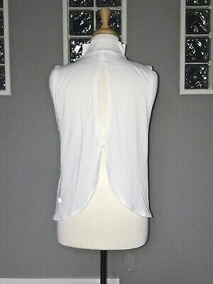 $ CDN62.40 • Buy Lululemon Twist And Reach Mock Neck Tank 10 Heathered White Keyhole Relaxed Fit